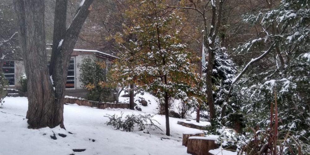 Invierno y nieve en el Campamento la Estancita